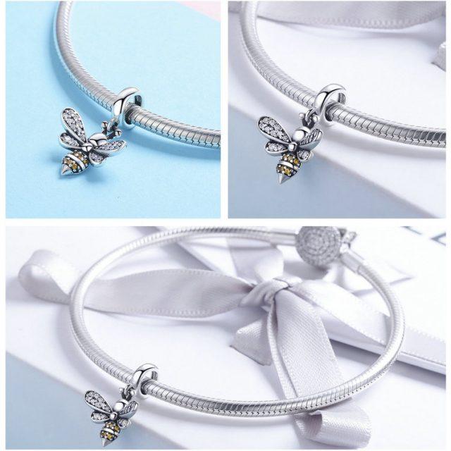Shiny Crystal Bee Bracelet Charm