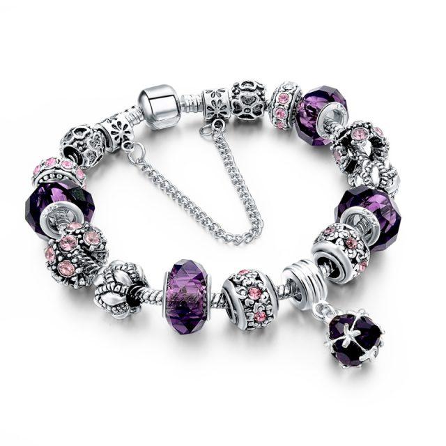 Women's Tibetan Silver Charm Bracelet
