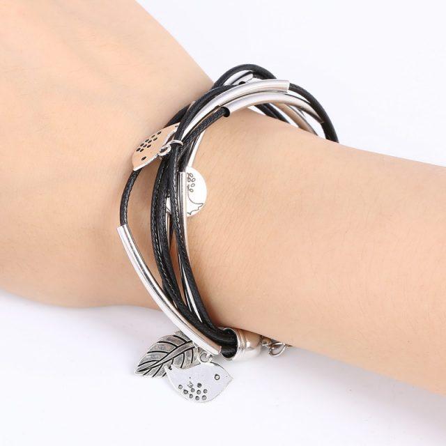 Fashion Silver Charm Leaves Bracelets