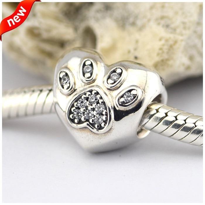 100% 925 Sterling Silver Fits Pandora Charms Silver 925 Original Bracelet Love My Pet Silver Charm Europe Beads