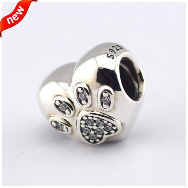 100% 925 Sterling Silver Fits Pandora Charms Silver 925 Original Bracelet Love My Pet Silver Charm Europe Beads