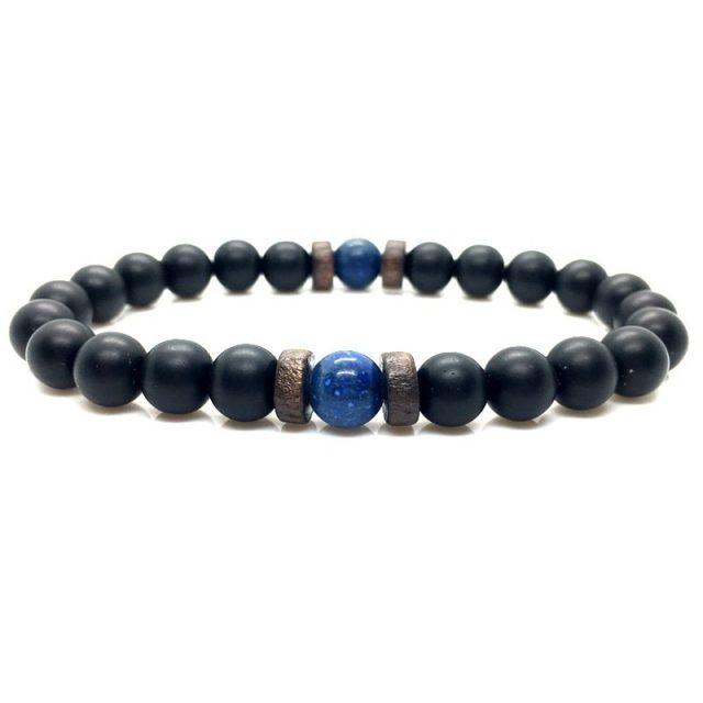 Men Bracelet Natural Moonstone Bead Tibetan Buddha Bracelet chakra Lava Stone Diffuser Bracelets Men Jewelry gift from Charms and Bracelets